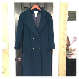 VTG Worthington 8P hunter green wool coat